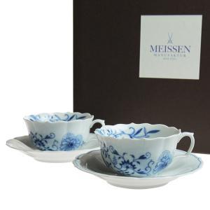 マイセン (Meissen) ブルーオニオン スタイル ティーカップ&ソーサー ペア c0007 nihonnotsurugi