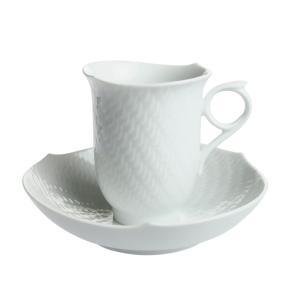 マイセン 波の戯れ ホワイト コーヒーカップ&ソーサー 29582|nihonnotsurugi