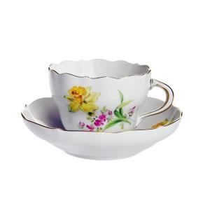マイセン 2つ花 スイセン コーヒーカップ&ソーサー 04C005/00582|nihonnotsurugi
