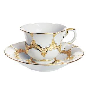 マイセン 金彩 ホワイトゴールド  コーヒーカップ&ソーサー 999979/15582|nihonnotsurugi