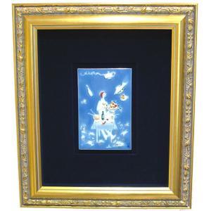 マイセン 額装陶画 青のメルヘン 魔法の食卓 930007/9P333(931734/95N91) nihonnotsurugi