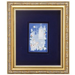 マイセン 額装陶画 青のメルヘン いばら姫 930006/9P334(931733/95N90)|nihonnotsurugi