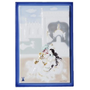 マイセン 陶画 千夜一夜 テラスの王様と王妃 930013/9P314(931091/95N63)|nihonnotsurugi