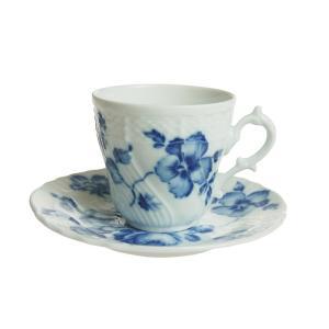 ウィンターSALE / リチャード・ジノリ ローズブルー コーヒーカップ&ソーサー (L)|nihonnotsurugi