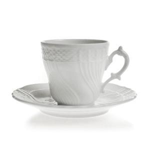 リチャード・ジノリ ベッキオホワイト コーヒーカップ&ソーサー (L)|nihonnotsurugi