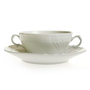 リチャード・ジノリ ベッキオホワイト スープカップ&ソーサー 3235|nihonnotsurugi
