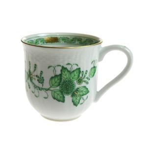 ヘレンド FV インドの華 グリーン マグカップ 1739|nihonnotsurugi