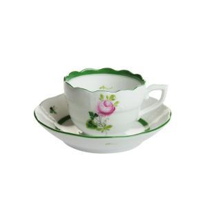 ヘレンド  VRH ウィーンのバラ モカコーヒーカップ&ソーサー 711|nihonnotsurugi