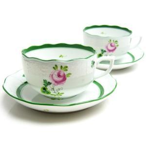 ヘレンド (HEREND) VRH ウィーンのバラ ティーカップ&ソーサー ペア 724 [ヘレンド 食器]|nihonnotsurugi