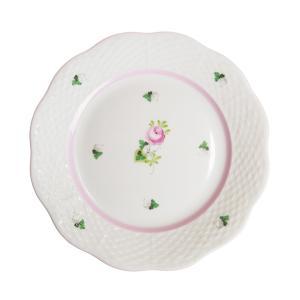 pre決算SALE / ヘレンド VRHX4 ウィーンのバラ ピンク プレート 19cm 517|nihonnotsurugi