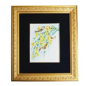 ヘレンド 額装陶画  BIRDS-2 20cm×15cm 08112|nihonnotsurugi