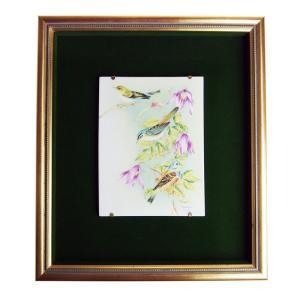 ヘレンド 額装陶画  BIRDS-3 20cm×15cm 08112|nihonnotsurugi