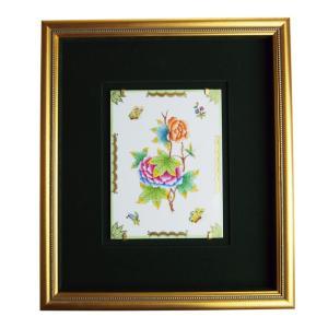 ヘレンド 額装陶画 VBO ヴィクトリアブーケ 20cmx15cm 08112-0-00  SP607|nihonnotsurugi