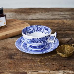 スポード ブルーイタリアン ティーカップ&ソーサー|nihonnotsurugi