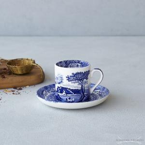 スポード  ブルーイタリアン コーヒーカップ&ソーサー|nihonnotsurugi