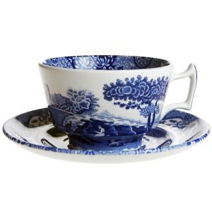 スポード ブルーイタリアン モーニングカップ&ソーサー|nihonnotsurugi