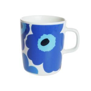 プレミアムSALE / マリメッコ ウニッコ マグカップ 250ml ホワイト×ブルー 017|nihonnotsurugi