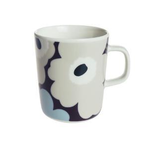 マリメッコ (marimekko) ウニッコ マグカップ 250ml パープル×グレイ 063431-480|nihonnotsurugi