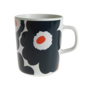 マリメッコ ウニッコ マグカップ 250ml ネイビー 192 ホワイト×ダークブルー×オレンジ|nihonnotsurugi