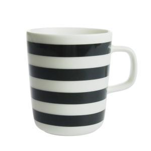 マリメッコ タサライタ マグカップ 250ml ブラック×ホワイト 815|nihonnotsurugi