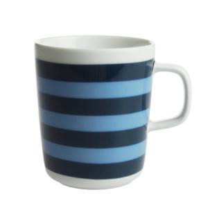 マリメッコ タサライタ マグカップ 250ml ダークブルー×ライトブルー  550|nihonnotsurugi