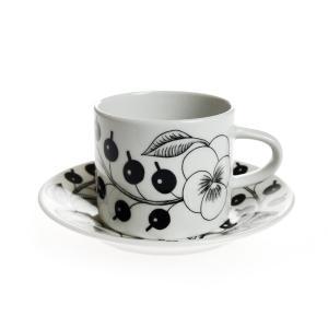 アラビア パラティッシ ブラック コーヒーカップ&ソーサー|nihonnotsurugi
