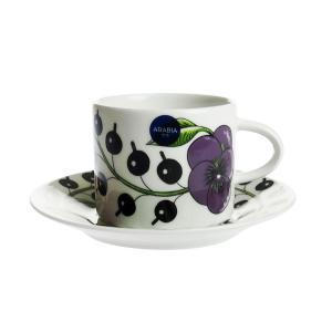 アラビア パラティッシ パープル コーヒーカップ&ソーサー|nihonnotsurugi