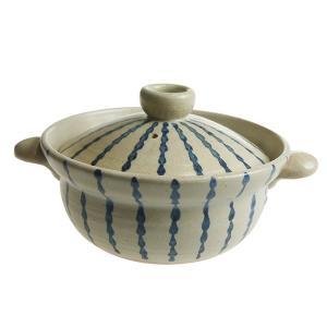 陶房ななかまど とくさ紋 1人用土鍋|nihonnotsurugi