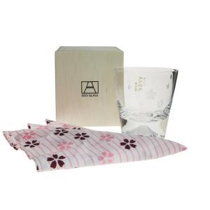 田島硝子 富士山 ロックグラス 桜富士 TG16-015-RS (桜風呂敷包み)|nihonnotsurugi|04