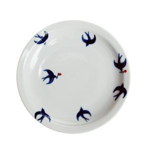 日下華子 九谷焼 つばめ 5寸皿 #164|nihonnotsurugi