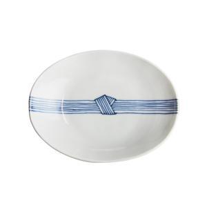 日下華子 九谷焼 ゴス帯締め 楕円浅鉢 #255|nihonnotsurugi