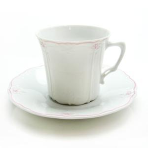 フッチェンロイター (HUTSCHEN REUTHER) エステール ピンク コーヒーカップ&ソーサー|nihonnotsurugi