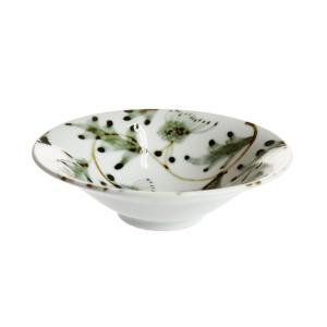 九谷青窯 横井佳乃 藍鉄アザミ唐草 4寸鉢|nihonnotsurugi