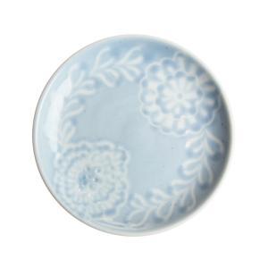 内村七生 色アネモネ 4寸皿 ブルー|nihonnotsurugi