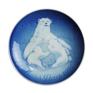 ビング・オー・グレンダール (Bing&Grondahl) マザーズデイプレート 1974年 北極熊の親子|nihonnotsurugi