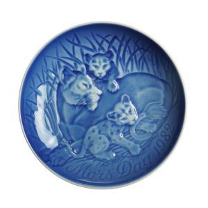 ビング・オー・グレンダール (Bing&Grondahl) マザーズデイプレート 1982年 ライオンの親子|nihonnotsurugi