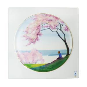 マイセン 陶画 桜咲く川辺の少女 No.549 933284|nihonnotsurugi