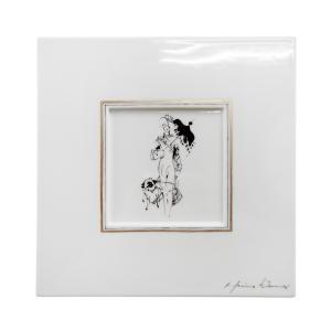 マイセン 陶画 LADY WITH PLAYMATE レディとプレイメイト No.612/No.2 935224/9M008|nihonnotsurugi