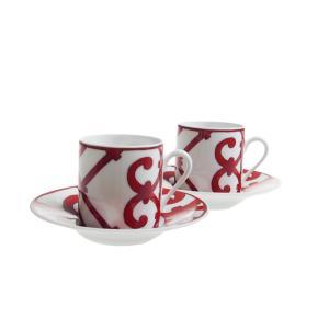 エルメス (HERMES) ガダルキヴィール コーヒーカップ&ソーサーペア 100ml 11017P|nihonnotsurugi