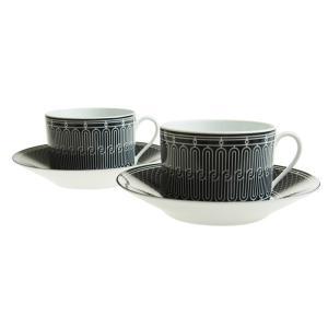 エルメス (HERMES) H アッシュデコ モーニングカップ&ソーサー ペア 340ml 037015P2|nihonnotsurugi