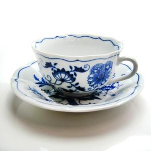 カールスバード ブルーオニオン ティーカップ&ソーサー|nihonnotsurugi