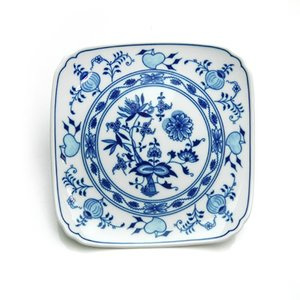 カールスバード ブルーオニオン (Carlsbad Blue Onion) スクエアプレート 21cm|nihonnotsurugi