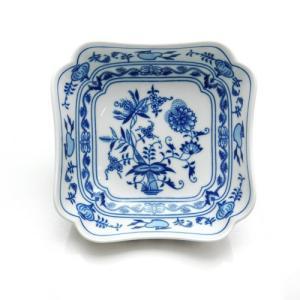 カールスバード ブルーオニオン (Carlsbad Blue Onion) スクエアボウル15cm CB460|nihonnotsurugi