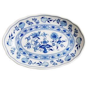 カールスバード ブルーオニオン カレー皿 23cm オーバルプレート|nihonnotsurugi