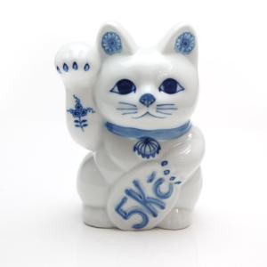カールスバード ブルーオニオン まねき猫 置物 貯金箱|nihonnotsurugi