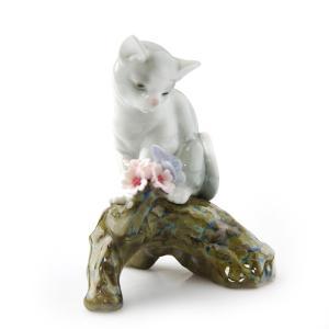 リヤドロ 人形 桜の咲くころ 仔猫 8382 nihonnotsurugi