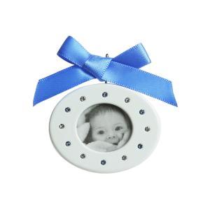 スワロフスキー (SWAROVSKI) Baby フォトフレーム Blue ブルー 5049485|nihonnotsurugi