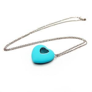 スワロフスキー USBフラッシュメモリ ペンダント ハート Blue Zircon 1116972 / 送料無料祭|nihonnotsurugi