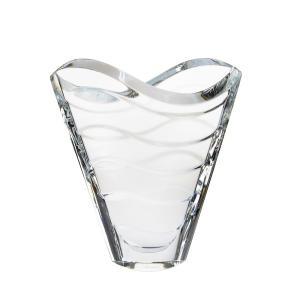 バカラ ウェーブ ベース 花瓶 22.5cm クリア 2102-668|nihonnotsurugi