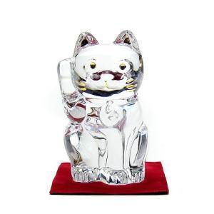 バカラ 招き猫 クリア 2607-786|nihonnotsurugi